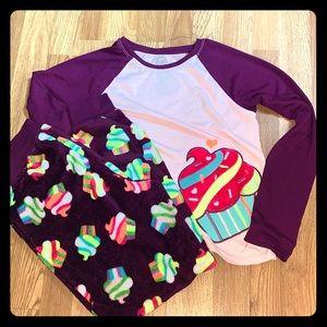 Purple girls pajamas